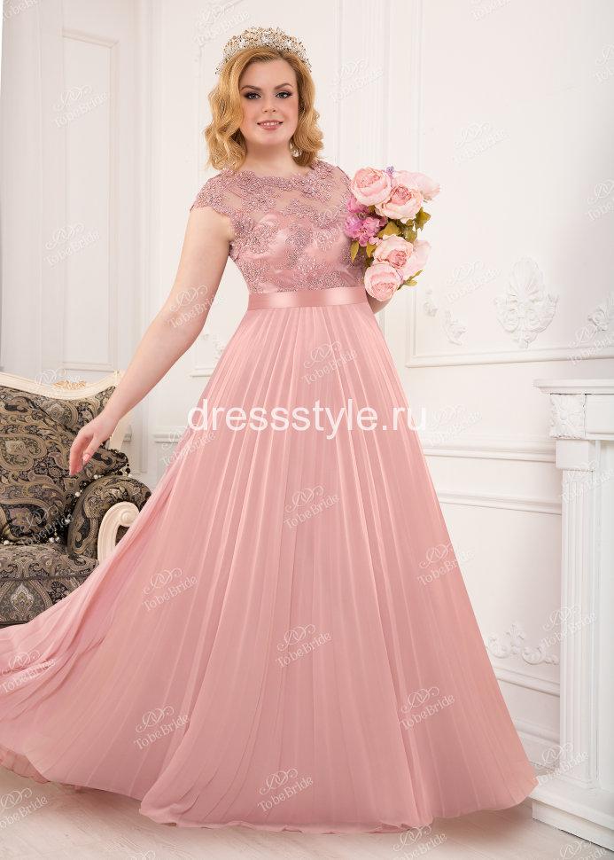 11b745d9c0f Вечернее длинное розовое платье ST097B купить в интернет-магазине ...