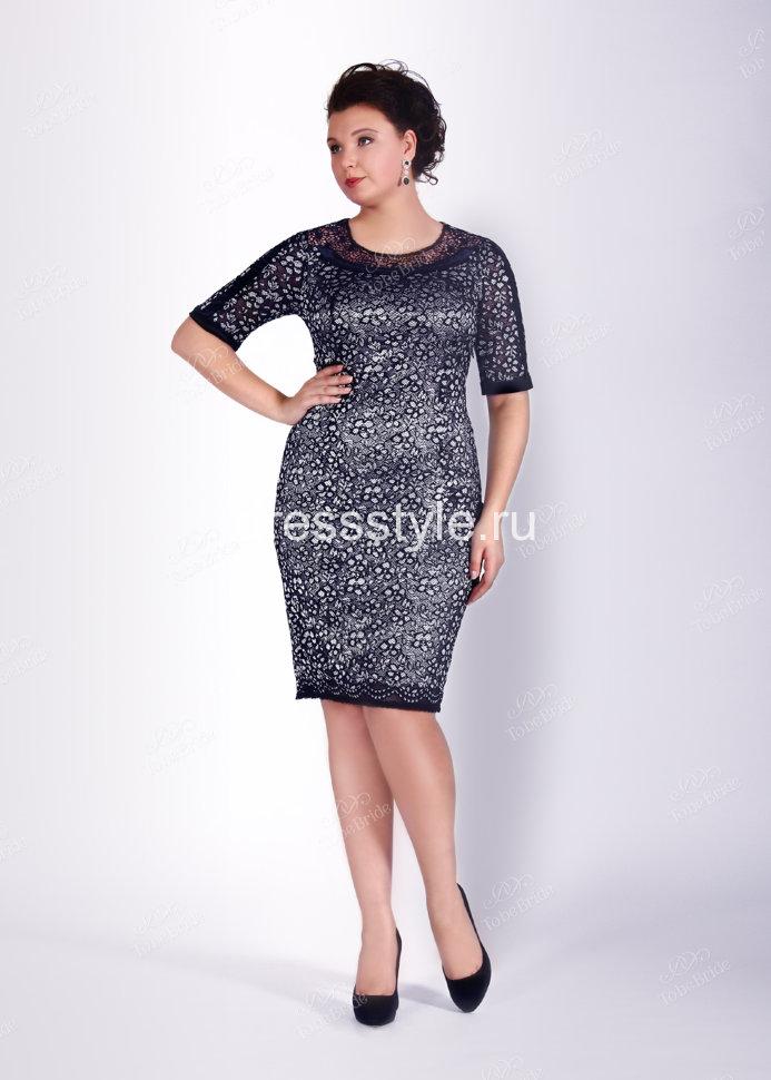 8b6ea1e63cf Вечернее кружевное платье-футляр в черно- белом сочетании ND017B ...
