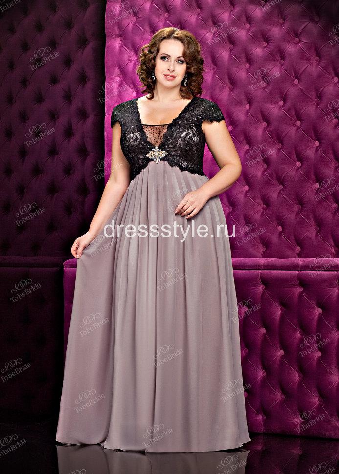 4658d6fcb5b Вечернее длинное платье бежевого оттенка с черным кружевным болеро KP0069BXL
