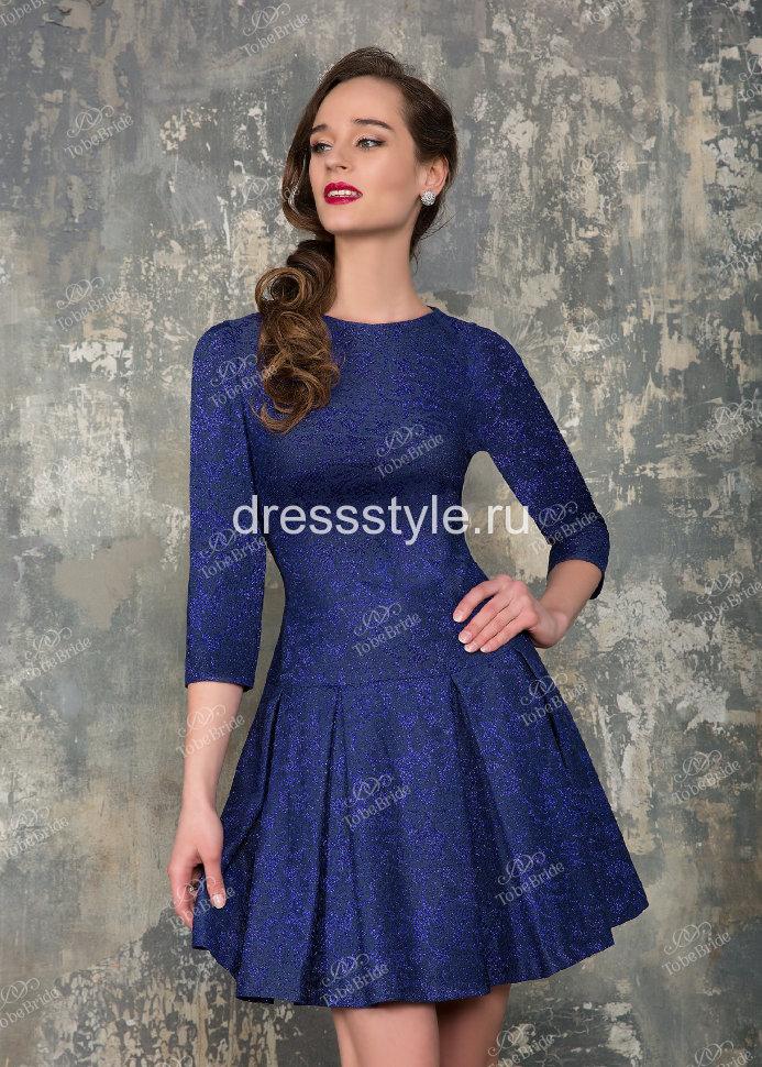93cf524bf0a Короткое вечернее платье с длинным рукавом фиолетового цвета MS008B ...
