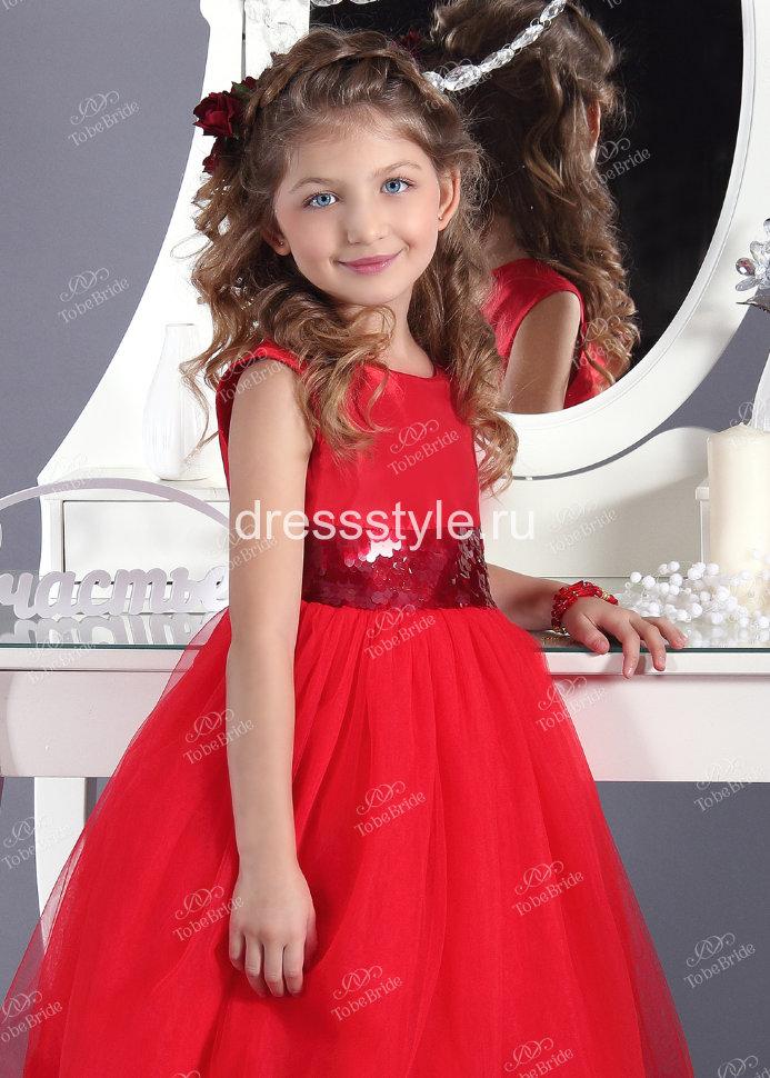 4d06f75f742 Детское платье ярко-красного цвета с пышной юбкой и жесткой сеткой из  четырехслойного еврофатина HB025D