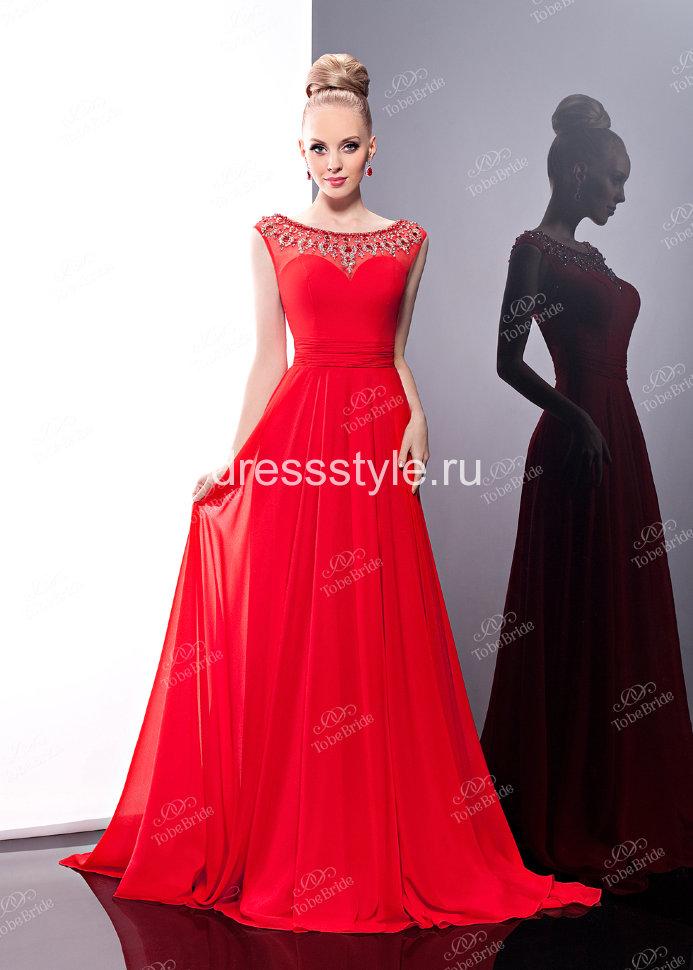Вечерние платье красное длинное