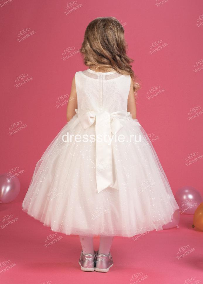 ca2d6dabd8e Детское белое платье с пышной юбкой HB024D купить в интернет ...