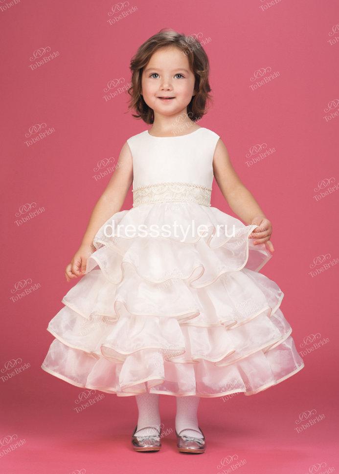 Белое атласное платье детское