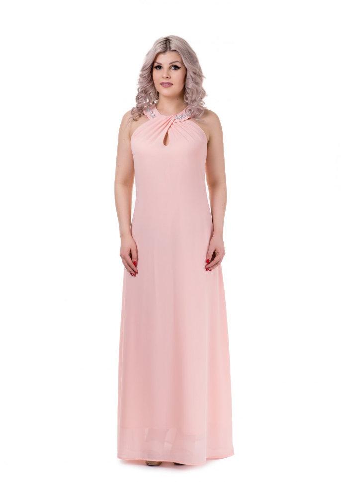 deba8129794 Платье в пол розовое